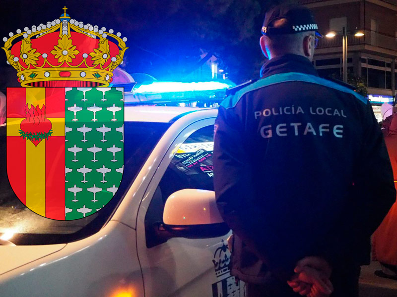 policia getafe noche escudo